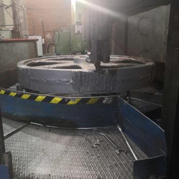 Токарная обработка зубчатого колеса на карусельном станке